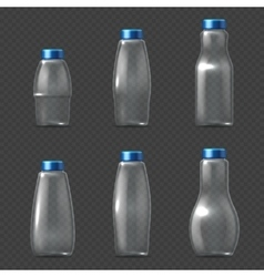 Empty glassware fragile packaging transparent vector
