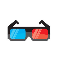 3d cinema glasses vector