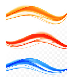 Abstract dynamic soft wavy lines set vector