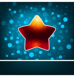 Red star on blue abstract happy new year eps 8 vector