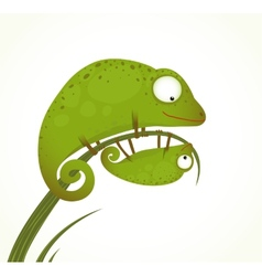 Two lizards mother and baby childish animal vector