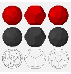 Set of three-dimensional geometric figures vector