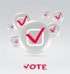 Vote concept background vector image