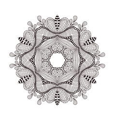 Abstract round ornament mandala on white vector
