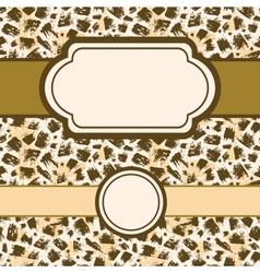 Animal brush stroke set of frames and seamless vector