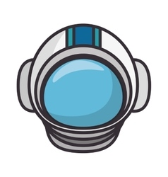 astronaut helmet isolated icon vector image vector image