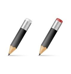 Black wooden sharp pencils vector image