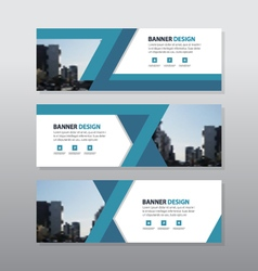 Blue abstract triangle corporate business banner vector