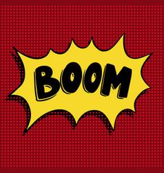 Boom hand drawn phrase in pop art style vector