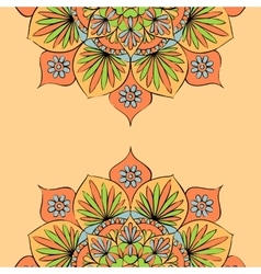 Colorful round mandala ornament vector image vector image