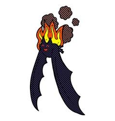 Comic cartoon spooky bat vector