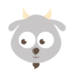 cute goat character isolated icon design vector image
