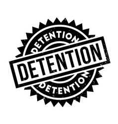 Detention rubber stamp vector