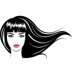 girl's face vector image vector image