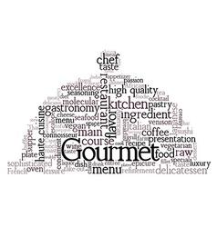Gourmet Theme Word Cloud vector image