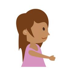 Happy girl icon image vector