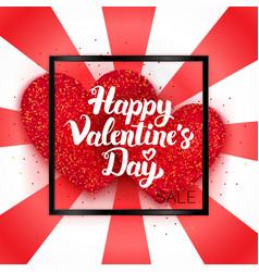 Happy valentines day sale ard vector