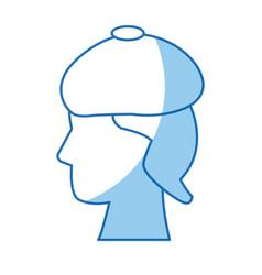 head human sad symbol design vector image