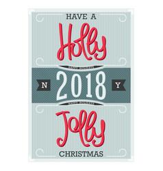Holly jolly christmas vector