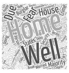 Information About Home Security Word Cloud Concept vector image
