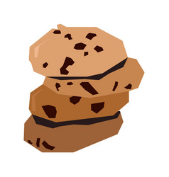 Isolated geometric cookies vector