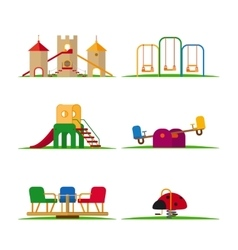Kids playground elements vector