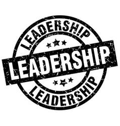 Leadership round grunge black stamp vector