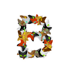 letter b cat font pet alphabet symbol home animal vector image vector image