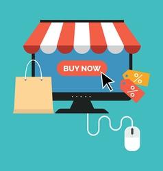 Online shopping concept flat design stylish vector