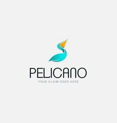 pelican logo company vector image vector image