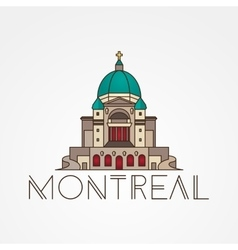 Saint Joseph Oratory in Montreal Canada Modern vector image