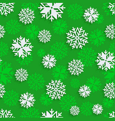 Seamless snowflakes background for winter vector
