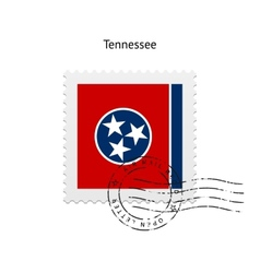 State of tennessee flag postage stamp vector