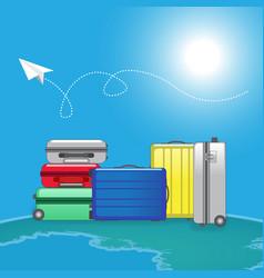 traveller luggage bag vector image