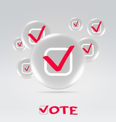 Vote concept background vector image