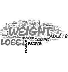 What you should know about weight loss camps for vector