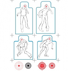 zombie targets vector image vector image