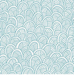 Waves seamless pattern vector