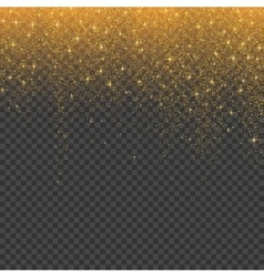 Gold glitter stardust christmas background vector image