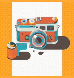 camera vintage photography abstract backgro vector image