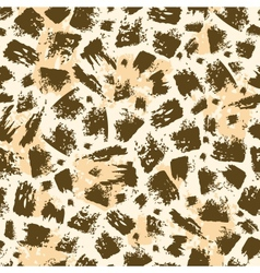 Animal brush stroke seamless pattern background vector image