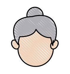 Face head mother mom woman image vector