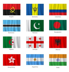 Set of flags vector