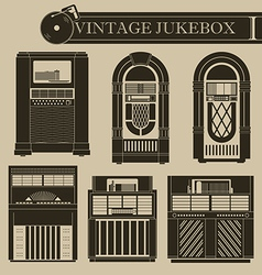 Vintage jukebox i vector