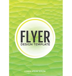 Pastel modern green polygonal brochure flyer vector