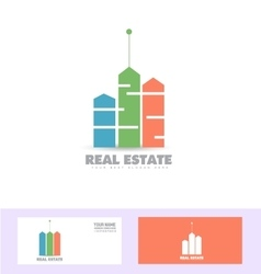 Real estate colors logo icon vector