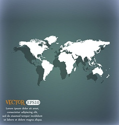 Globe sign icon world map geography symbol on the vector