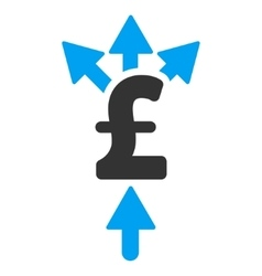 Divide pound payment flat icon symbol vector