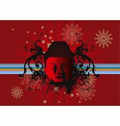 Buddha back vector image vector image
