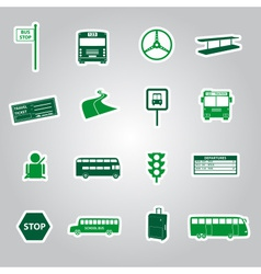 Bus transport stickers eps10 vector